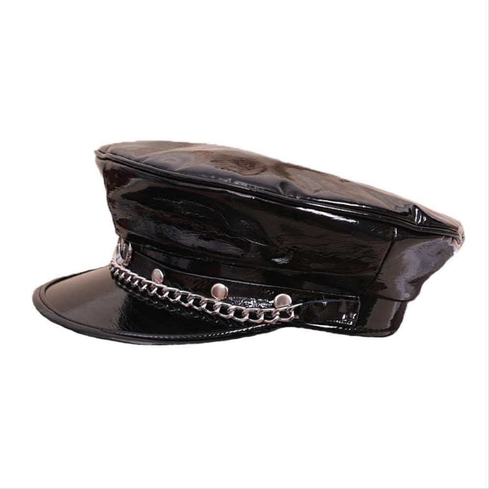 Newsboy HAT Newsboy Cap Visor Beret,Womens Patent Leather Chain Beret