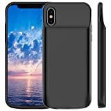 iPhone X Battery Case, Vproof 3600mAh Rechargeable Portable Charger Case External Protective Charging Case Power Bank for Apple iPhone 10 (5.8 Inch) (Black)