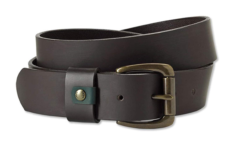 Orvis Mens Rubberized Leather Belt