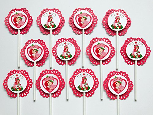 12 STRAWBERRY SHORTCAKE Cupcake Topper - Party Picks - Disney ()