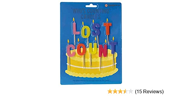 Amazon Lost Count Novelty Birthday Candles Home Kitchen