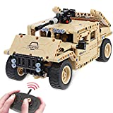 Building Blocks STEM Toys Remote Control Car RC Military Vehicles 502PCS Battle Construction Set Creative DIY Kit for Kids 6, 7, 8-12 year old Birthday Gift with USB Rechargeable Battery