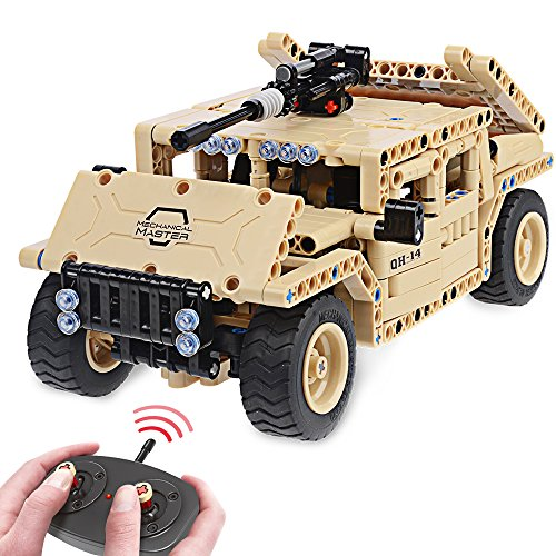 Building Blocks STEM Toys Remote Control Car RC Military Veh