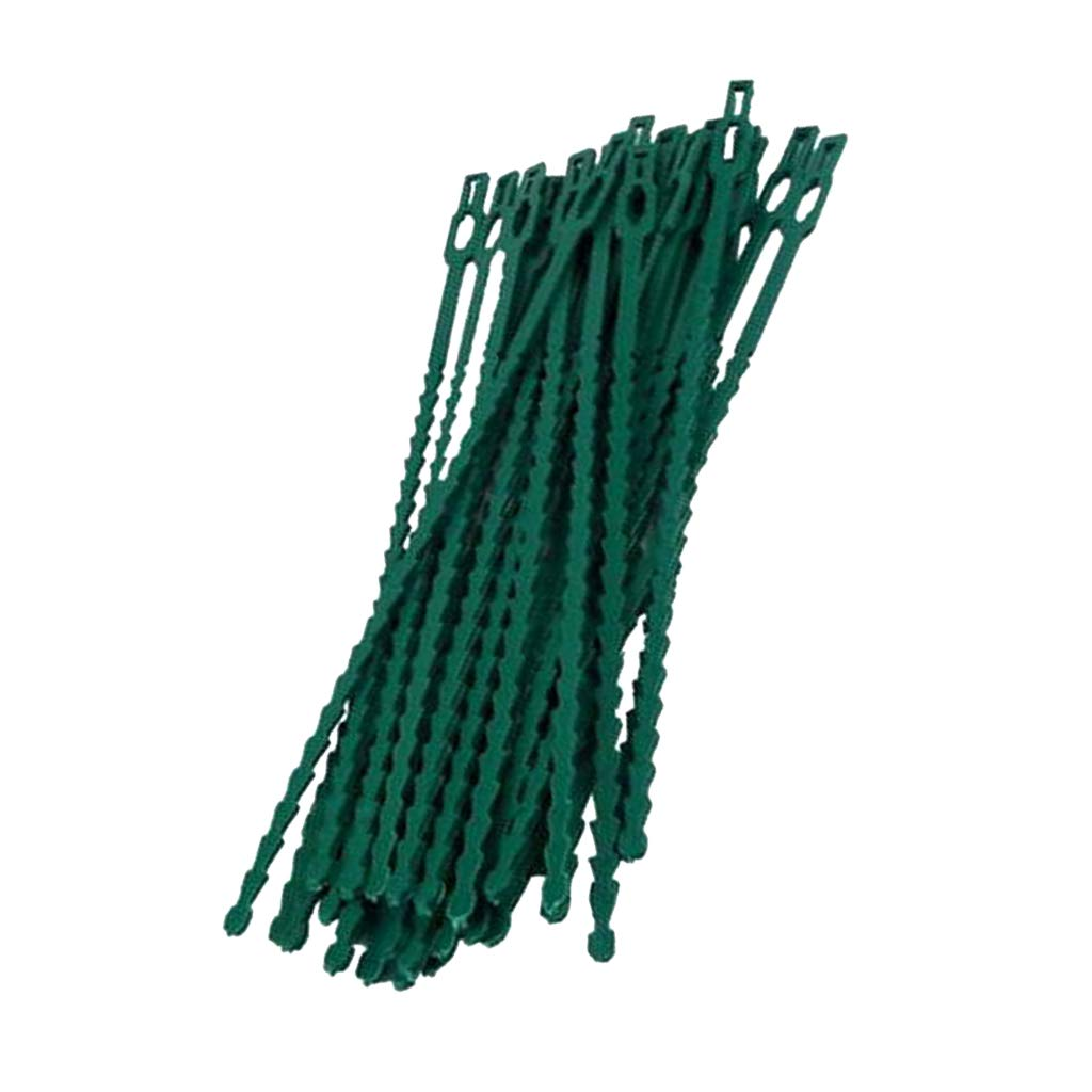 Flameer 30/50pcs Garden Tie Plastic Covered Wire Plant Tie Support Garden Bonsai DIY Tools - 17CM, as described