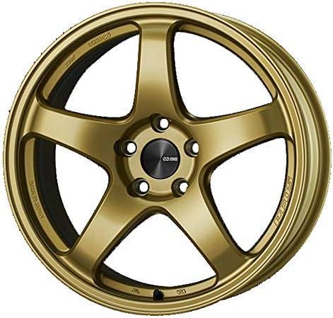 エンケイ (ENKEI) パフォーマンスライン PF05 (Performance Line PF05) 18インチ × 8J PCD100 穴数5 インセット45 カラー:ゴールド ホイール単品 (1枚) BRZ カローラ 86 エクシーガ