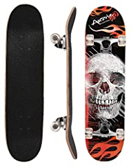 BEST CHOICE FOR YOUR BOY OR GIRL.  This ChromeWheels Skateboard is designed for all level riders, ideal for beginner skater to do some basic STUNTS such 360's, OL action and a few other basic tricks. High Quality and stable construction makes...