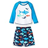 Just One You Made by Carter's Boys' Shark Rash Guard Swimsuit Set