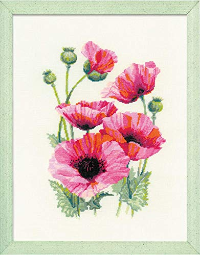 RIOLIS 1775 - Pink Poppies - Counted Cross Stitch Kits 9¾