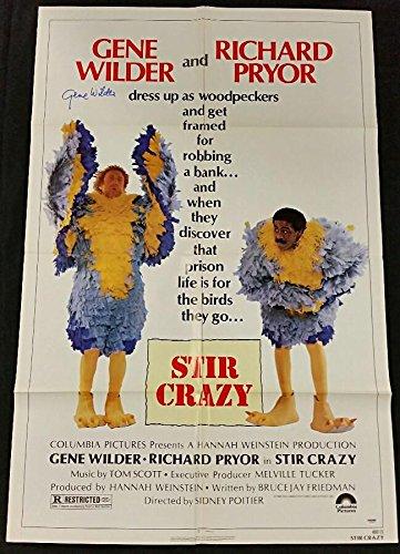 GENE WILDER Signed 27x40 STIR CRAZY Original Movie Poster Auto w/PSA/DNA COA