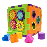 WISHTIME Kids Preschool Shape Colorful Sorter Cube