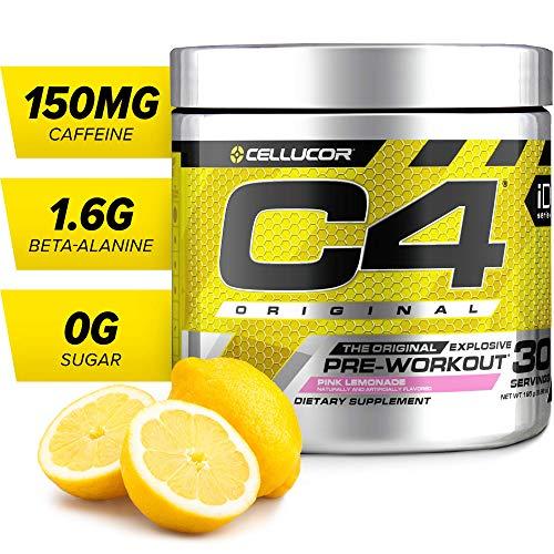 C4 Original Pre Workout Powder Pink Lemonade | Sugar Free Preworkout Energy Supplement for Men & Women | 150mg Caffeine + Beta Alanine + Creatine | 30 Servings