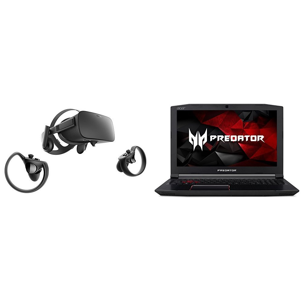 Oculus Rift + Touch Virtual Reality System and Acer Predator Helios 300 Gaming Laptop Bundle