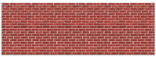 Brick Wall Backdrop Party Accessory (1 count) - Wall Brick
