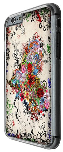 1079 - cool fun love heart flowers colourful shabby chic stars Design For iphone 6 Plus / iphone 6 Plus S 5.5'' Fashion Trend CASE Back COVER Plastic&Thin Metal -Clear