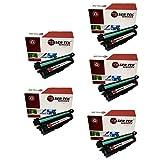Laser Tek Services® 5 Pack Replacement HP 651A High Yield Toner Cartridges (2 CE340A, 1 CE341A, 1 CE342A, 1 CE343A) for the HP LaserJet Enterprise 700 Color MFP M775dn, M775 f, M775 z, M775 z plus