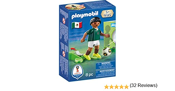 PLAYMOBIL-Jugador México Playset de Figuras de Juguete, Multicolor ...