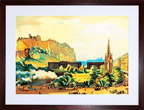 The Art Stop Painting Cityscape Edinburgh Castle Scott Monument Framed Print F97X4498