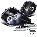 2000 mitsubishi eclipse halo - Eclipse Black Dual Halo Projector Headlight, Bumper Led Fog Lamp Drl