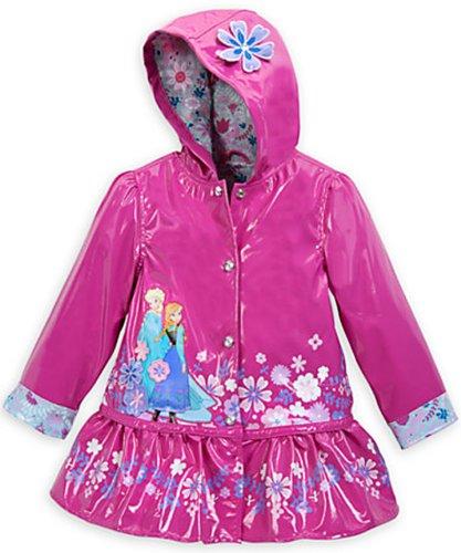 Disney Frozen Anna and Elsa Rain Jacket Large 9 - 10