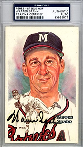 Warren Spahn Autographed Signed 3x5 1981 Postcard Milwaukee Braves #83935577 PSA/DNA Certified MLB Cut Signatures