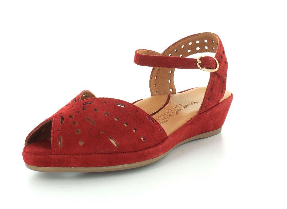 L`Amour Des Pieds Womens Brenn Scarlet Sandal - 5.5 M