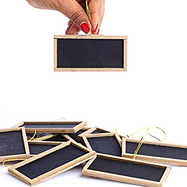 Adorox Mini Small Chalkboards 2  X 4  Rustic Wedding Place Cards Party Favors & Crafts (12 Pieces)