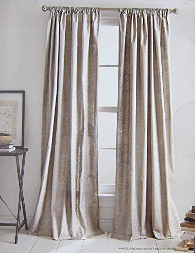 Amazon DKNY Mineral Taupe Silver Rod Pocket Curtains 100 Cotton 50 By 84 Inch Set Of 2 Finish Contemporary Window Panels Home Kitchen