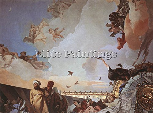 TIEPOLO PALACIO REAL GLORY SPAIN DETAIL2 ARTIST PAINTING OIL CANVAS REPRO ART 36x48inch by Elite-Paintings