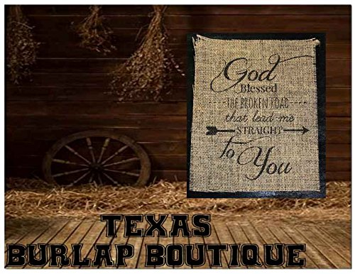 Amazon Com Burlap Country Rustic Chic Wedding Sign Western Home