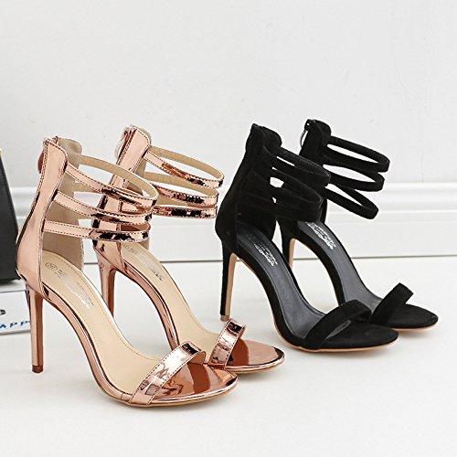 tacco aiutare singolo scarpe ZHZNVX alto scanalato nuovo scarpe sistema ad champagne bene con eleganti Il sandali ed alta romana wXzTr4qzYx