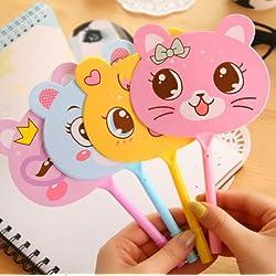 AA 4pcs Lovely Design Cute Cartoon Kawaii Novelty Ballpoint Pen Cute Animal Ballpen