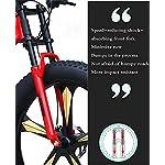 GASLIKE-Mountain-Bike-Fat-Tire-per-Ragazzi-di-Uomini-e-Donne-Adulti-Telaio-in-Acciaio-ad-Alto-tenore-di-Carbonio-Doppia-Sospensione-a-Coda-Morbida-Freno-a-Disco-Meccanico