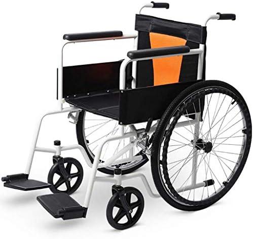 A-MUZI Faltbarer Rollstuhl, Rollstuhl Mit Vollstahlrohrverstärkung, Leichtgewichtiger Rollstuhl Aus Aluminiumlegierung...