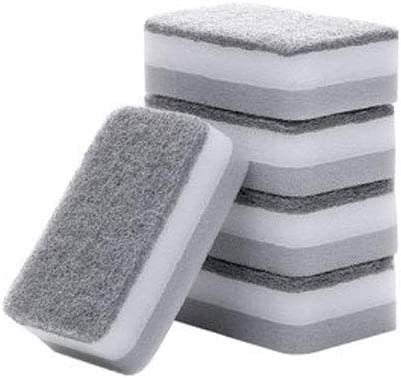 LLKK Esponjas de Limpieza,estropajos,Toallitas de Esponja para Lavar Platos,ollas para Lavar la Cocina del hogar y paños de Limpieza para Platos (5 Piezas)