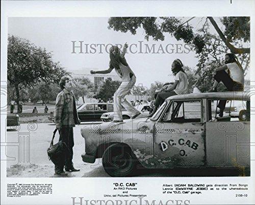 1983 The papers Photo Adam Baldwin & DeWayne Jessie In DC Cab - DFPG35177