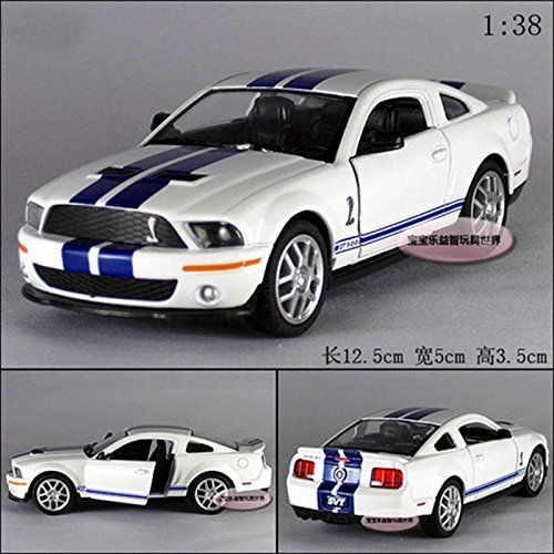 1966 Ford Mustang Convertible (Kinsmart 1:38 1/38 2007 MUSTANG Ford Shelby GT500 Sports car Diecast model White)