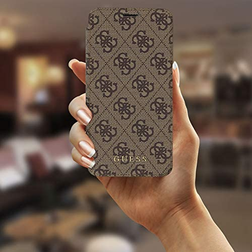 Guess GUFLBKI65GF4GBR Charms Book Case 4G Brown for iPhone XS Max