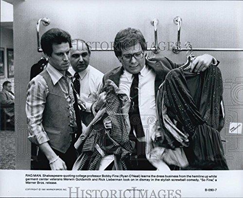 "1981 Around Photo Ryan O'Neal, Merwin Goldsmith And Rick Lieberman In ""So Fine"""
