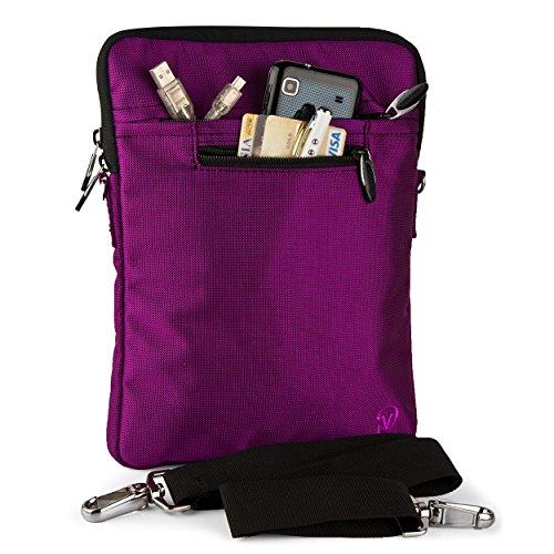 VG Purple Shoulder Strap Tablet Bag Sleeve Zipper Carrying C
