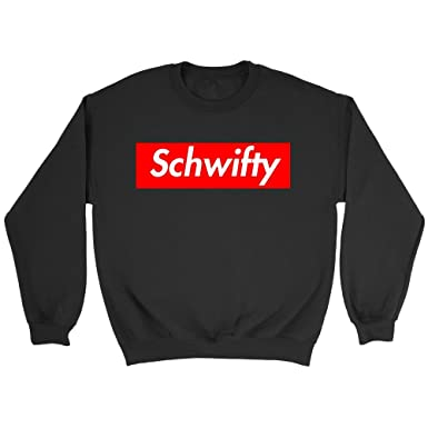 cd2e317d56eb Schwifty Hoodie Supreme Logo Parody Get Schwifty Unisex Sweatshirt (Black
