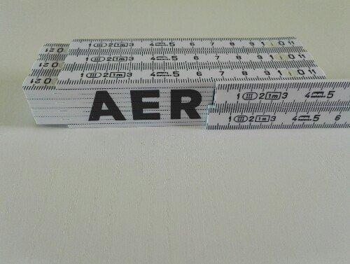 5 Zollst/öcke 1 Meter mit Werbung aer