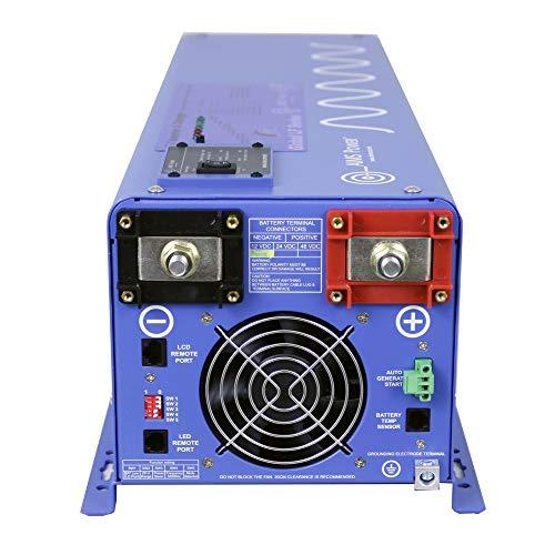 AIMS Power 24 Volt Inverter Charger, 6000 Frequency Inverter 110/220Vac Split Block, GFCI