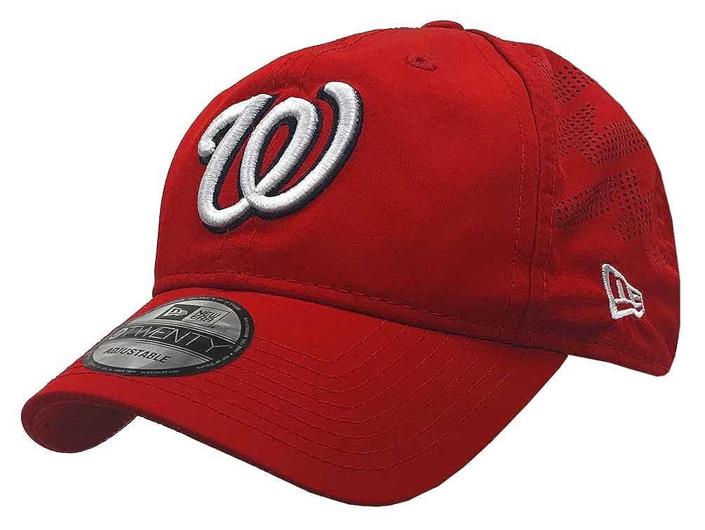 d7e5adf50e27e Amazon.com  New Era MLB Washington Nationals Batting Practice Baseball Hat  9Twenty Cap Red  Clothing