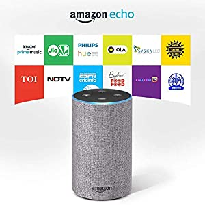 Certified Refurbished Amazon Echo - Smart speaker with Alexa   Powered by Dolby - Grey