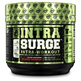 INTRASURGE Intra Workout Energy BCAA Powder - Fermented BCAA Amino Acids, Natural Caffeine, L-Citrulline, and More for Muscle Building, Strength, Pumps, Endurance, Recovery - Blood Orange, 20sv
