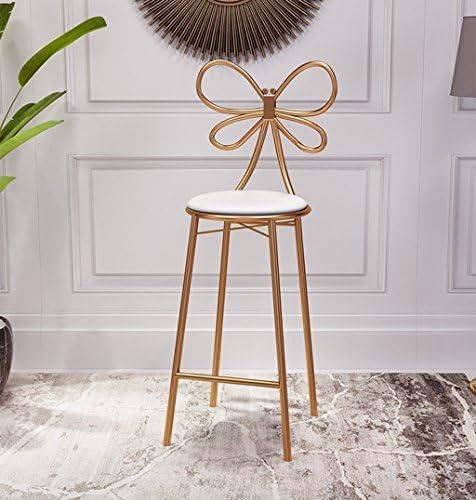 Sucastle LIFEIYAN Iron bar stool chair bar creative bar stool bar stool high stools simple casual dining chair restaurant chair (Size : 40 * 40 * 45CM)