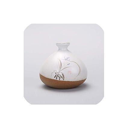 Amazon com: Hand Painted Lotus Vase Vintage Handmade Crafts