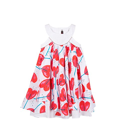 Catimini Hearts Print Foulard Dress by Catimini