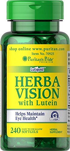 Puritan's Pride Herbavision with Lutein and Bilberry-240 Softgels