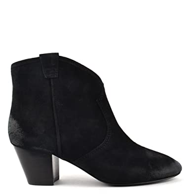 3838ff0fccd34 Ash Spiral Black Suede Western Style Ankle Boot Black 41  Amazon.co ...